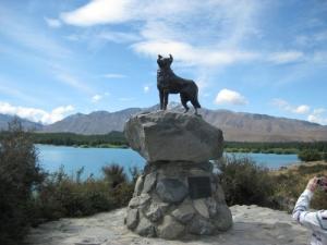 Collie dog statue