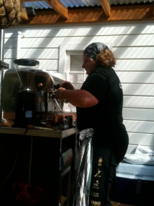 Ruth in the Barista competition