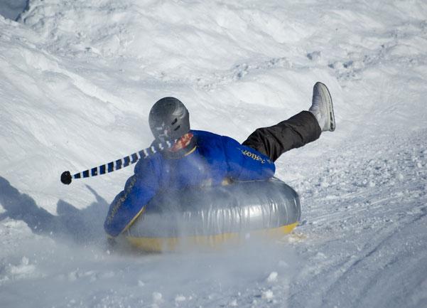 Snow tubing at Alpine Springs